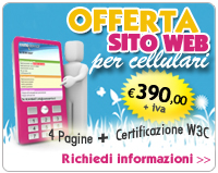 Offerta sito web per cellulari