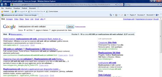 Posizione Cosmoservice in Google